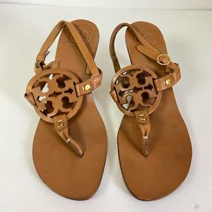 Tory Burch high heel sandals brown leather holly 7